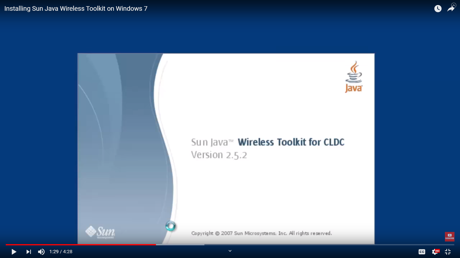 Installing Sun Java Wireless Toolkit in Windows 7