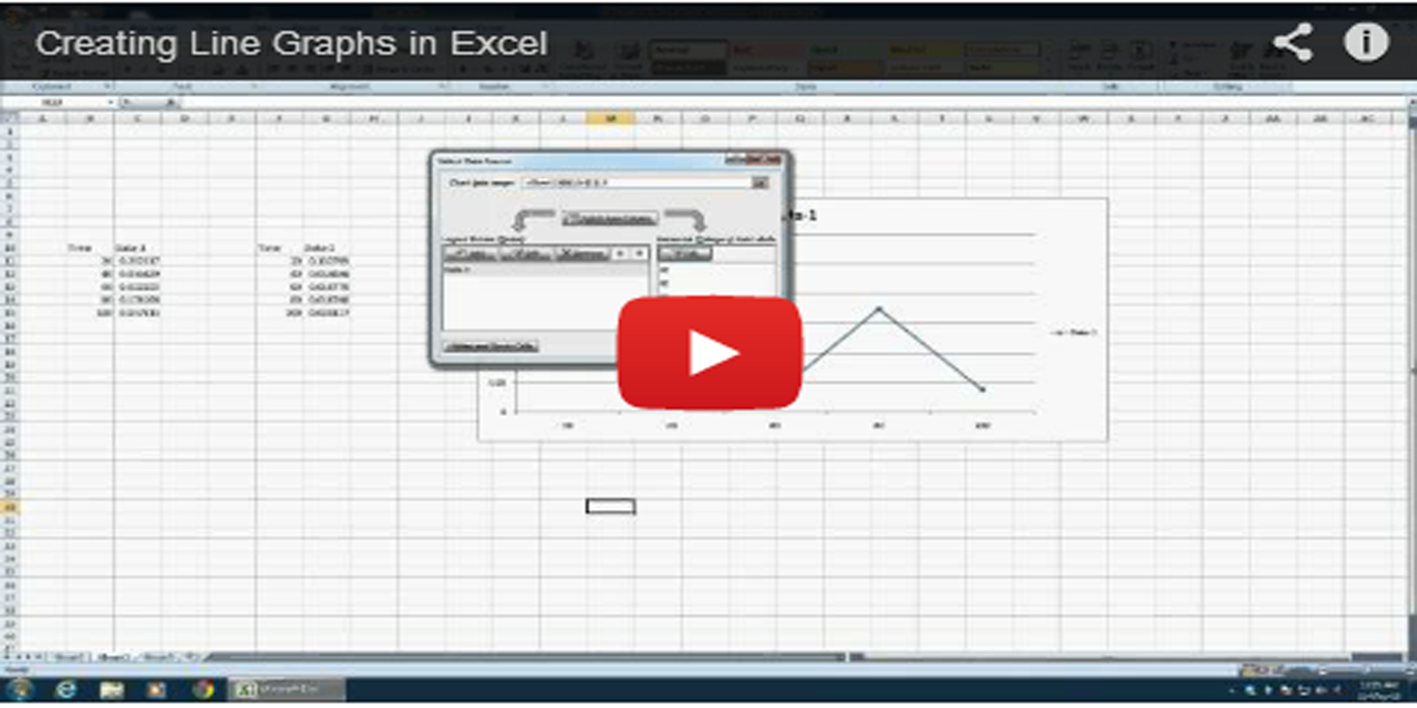 Creating Graphs in MS Office Excel