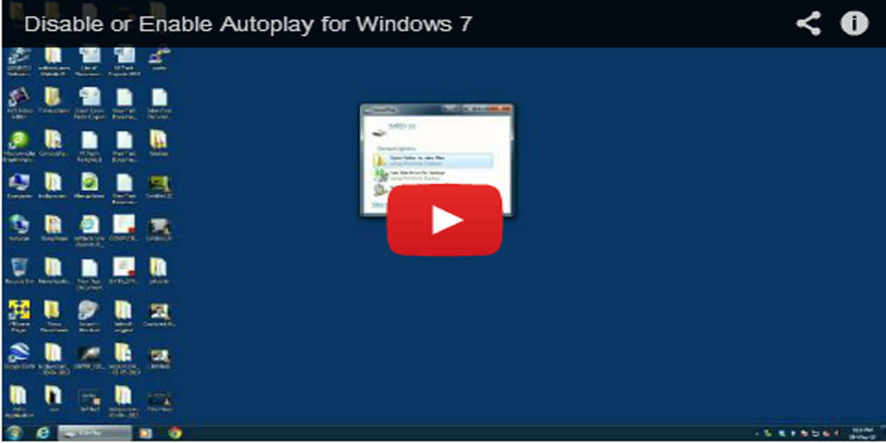 Disable or Enable Autoplay in Windows 7